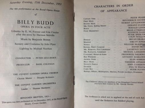 programme billy budd