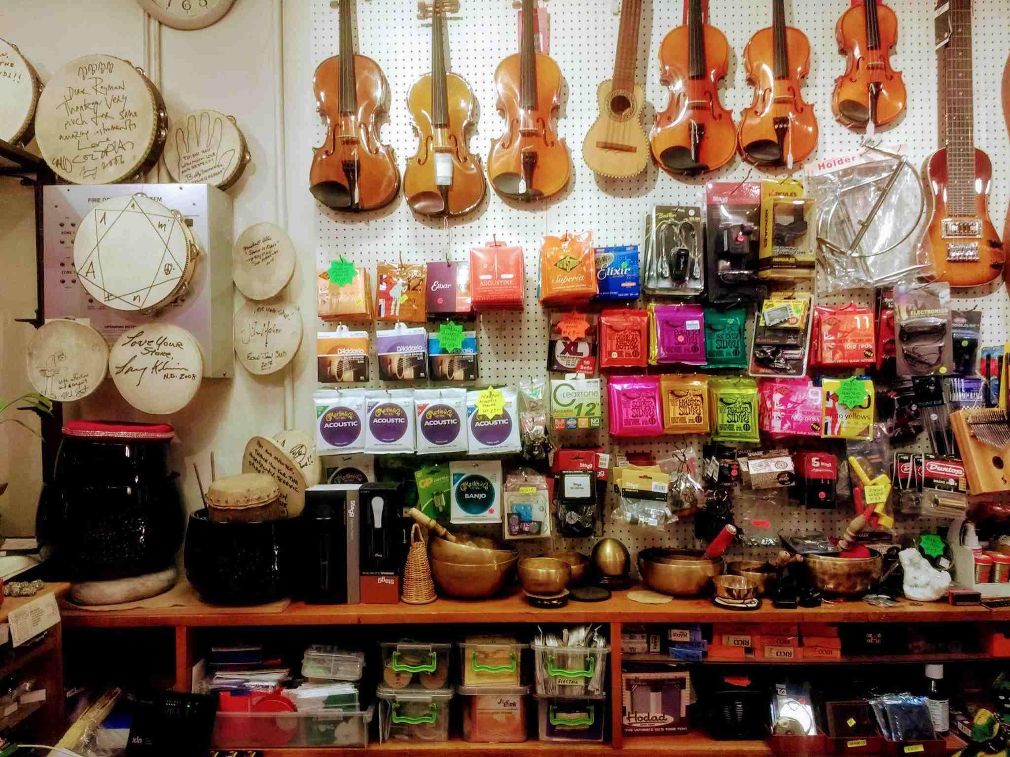Ray Man's shop violins